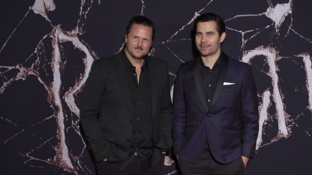 vídeos y material grabado en eventos de stock de andy grush taylor stewart the newton brothers at the premiere of warner bros pictures' doctor sleep in los angeles ca - warner bros