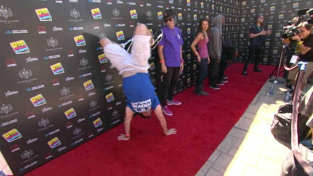 andy macdonald at 10th annual tony hawk's stand up for skateparks benefit on 10/5/13 in los angeles ca - tony hawk skateboarder stock videos and b-roll footage