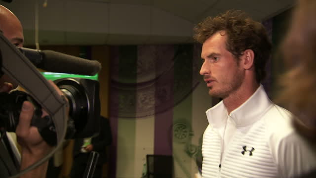 Andy Murray has won the Wimbledon men's singles title for the second time Show tennis player Andy Murray being interviewed on July 10 2016 in...