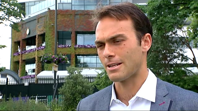 Andy Murray wins fourth round match Ross Hutchins interview SOT On Andy Murray's chances against Kevin Anderson