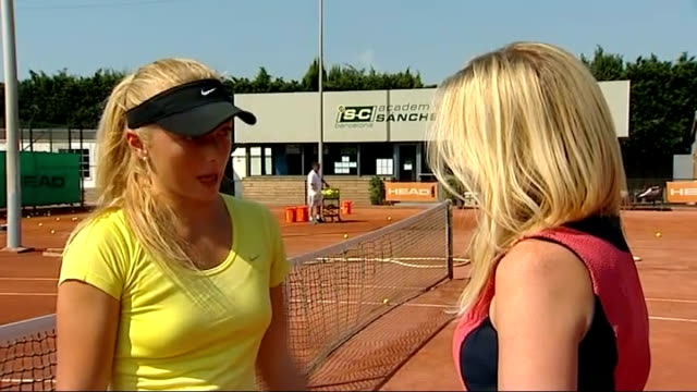 Andy Murray's Wimbledon victory built on the clay courts of Spain Jazzi Plews playing tennis on clay court Jazzi Plews interview with reporter in...
