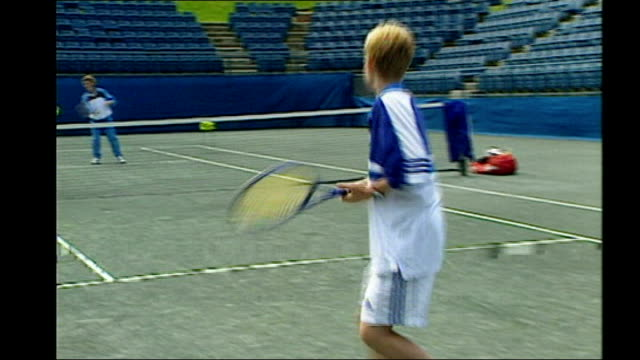 Andy Murray's Wimbledon victory Influence of Judy Murray FILE 1999 Judy Murray playing tennis with young Andy Murray Judy Murray interview SOT I have...