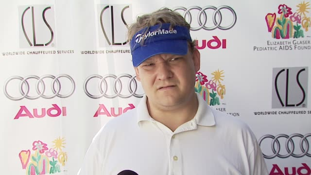 andy richter on why hes in attendance his golf game how conan did as host of the emmys at the 8th annual elizabeth glaser pediatric aids foundation... - elizabeth glaser pediatric aids foundation stock videos & royalty-free footage