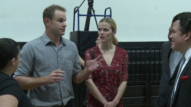 andy roddick and brooklyn decker at david crockett high school on march 10 2016 in austin texas - andy roddick stock videos and b-roll footage