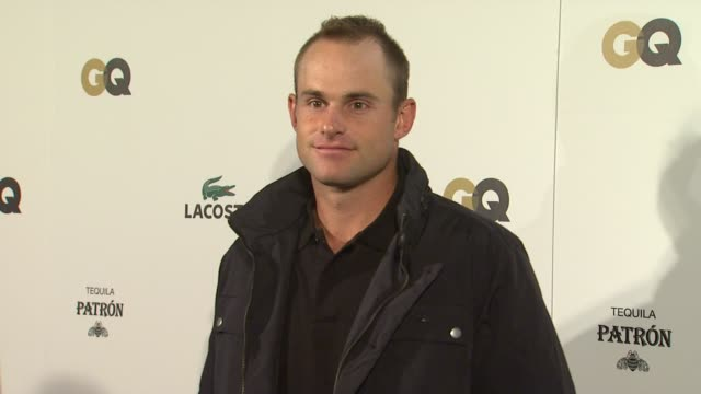 andy roddick at gq and lacoste celebrate the big game in indianapolis in on 2/3/12 - andy roddick stock-videos und b-roll-filmmaterial