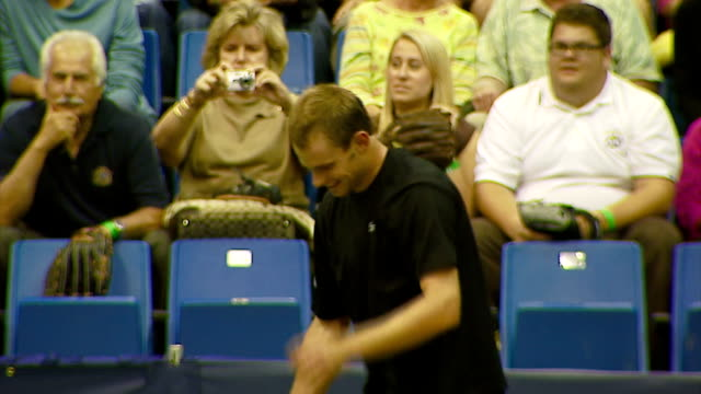 andy roddick at the advanta presents wtt smash hits celebrity tennis tournament at bren center university of irvine in irvine california on september... - irvine california stock videos & royalty-free footage
