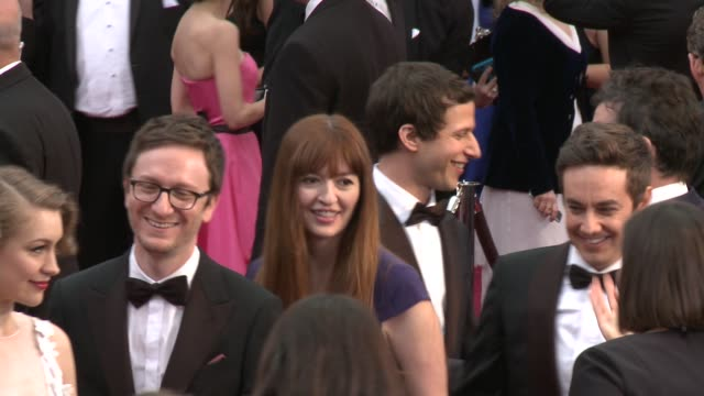 andy samberg akiva schaffer and jorma taccone at the 87th annual academy awards arrivals at dolby theatre on february 22 2015 in hollywood california - akiva schaffer stock videos and b-roll footage