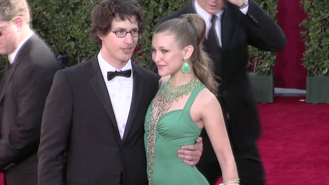 Andy Samberg and Joanna Newsom at the 61st Annual Primetime Emmy Awards Arrivals Part 4 at Los Angeles CA