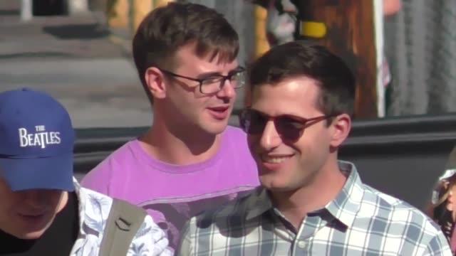 Andy Samberg outside Jimmy Kimmel Live in Hollywood in Celebrity Sightings in Los Angeles