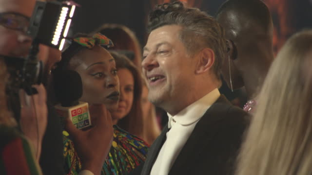 andy serkis at 'black panther' european premiere at eventim apollo on february 8, 2018 in london, england. - andy serkis stock videos & royalty-free footage