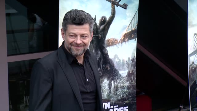 andy serkis at dawn of the planet of the apes screening at williamsburg cinemas on july 08, 2014 in new york city. - andy serkis stock videos & royalty-free footage