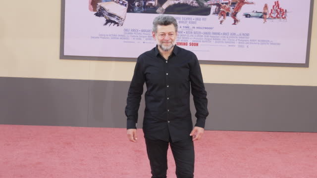 """andy serkis at the """"once upon a time in hollywood"""" premiere at tcl chinese theatre on july 22, 2019 in hollywood, california. - andy serkis stock videos & royalty-free footage"""