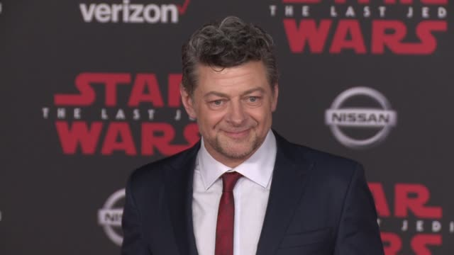 """andy serkis at the """"star wars: the last jedi"""" premiere at the shrine auditorium on december 9, 2017 in los angeles, california. - andy serkis stock videos & royalty-free footage"""
