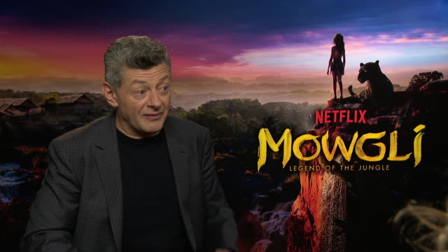 interview andy serkis on handing his baby over the netflix at 'mowgli' interview on december 04 2018 in london england - netflix stock videos & royalty-free footage