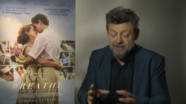 andy serkis on the content that he creates on a digital platform, 'breathe' being more left field for his company at 'breathe' junket - 61st bfi... - andy serkis stock videos & royalty-free footage