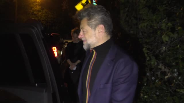 andy serkis signs for fans outside entertainment weekly's sag awards party at chateau marmont in los angeles in celebrity sightings in los angeles, - andy serkis stock videos & royalty-free footage