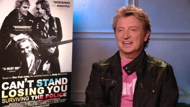 andy summers on moments in the film, the chemistry of the police and the public's reaction to the film at 'can't stand losing you: surviving the... - chemistry点の映像素材/bロール