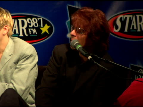 andy taylor of duran duran at the duran duran debuts of their new single at star 98.7 fm radio in burbank, california on august 19, 2004. - duran duran stock videos & royalty-free footage