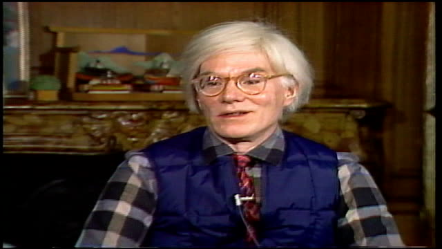 andy warhol interview at the factory studio - halston stock videos & royalty-free footage
