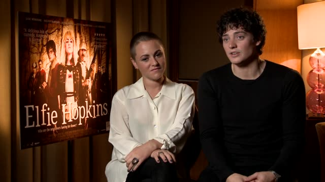 Aneurin Barnard on his characters Geeky qualities at Elfie Hopkins Interviews on April 12 2012 in London England