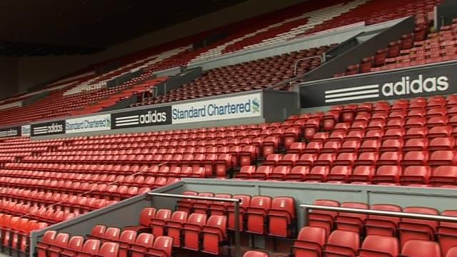 anfield general views inside the main stadium at anfield on september 20 2011 in liverpool england - generell överblick bildbanksvideor och videomaterial från bakom kulisserna