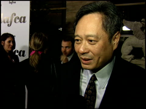 ang lee at the 2006 lafca los angeles film critic's association awards at park hyatt in century city, california on january 17, 2006. - 評論家点の映像素材/bロール