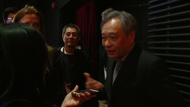 ang lee at the 88th annual academy awards nominations at the academy of motion picture arts and sciences on january 14 2016 in los angeles california - 映画芸術科学協会点の映像素材/bロール