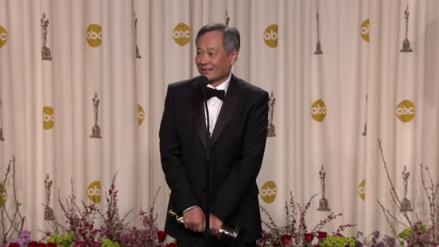 SPEECH Ang Lee on being excited about his award and on shooting in Taiwan at 85th Annual Academy Awards Press Room in Hollywood CA on 2/24/2013