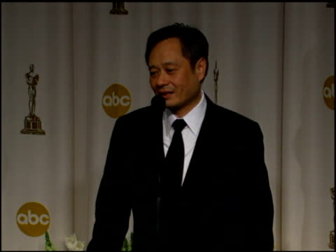 ang lee on how 'brokeback mountain' taught him how to enjoy filmmaking again at the 2006 annual academy awards at the kodak theatre in hollywood,... - ドルビー・シアター点の映像素材/bロール