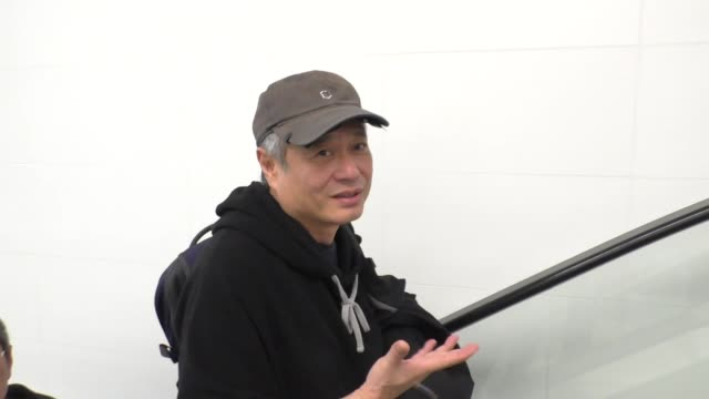 INTERVIEW Ang Lee talks about his new movies while departing at LAX Airport in Los Angeles in Celebrity Sightings in Los Angeles