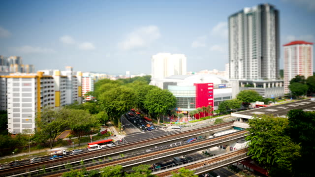 ang mo kio town centre - housing development stock videos & royalty-free footage
