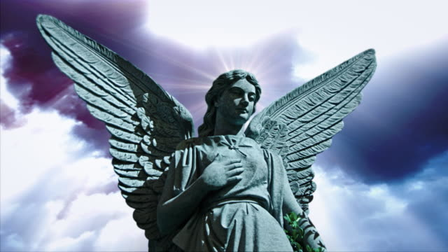 angel 1004 hd, 4k stock footage for worship - weibliche figur stock-videos und b-roll-filmmaterial