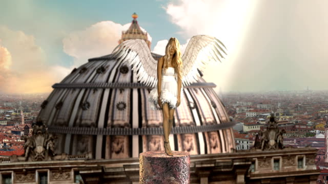 angel above the city - angel stock videos & royalty-free footage