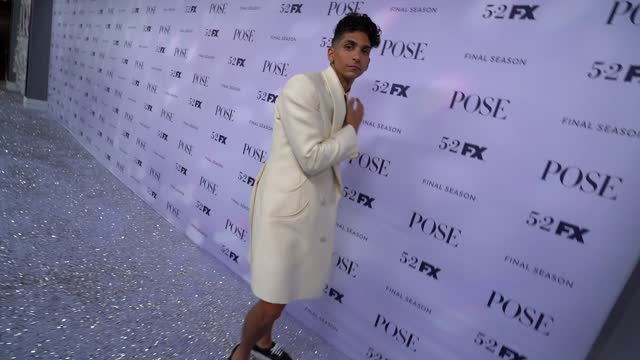 """angel bismark curiel at fx's """"pose"""" season 3 new york premiere at jazz at lincoln center on april 29, 2021 in new york city. - premiere event stock videos & royalty-free footage"""