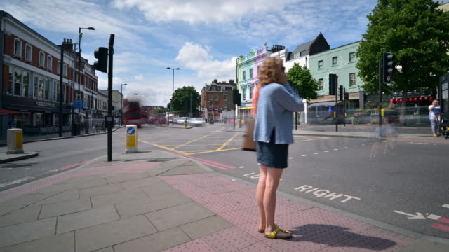 angel in islington north london - angel stock videos and b-roll footage