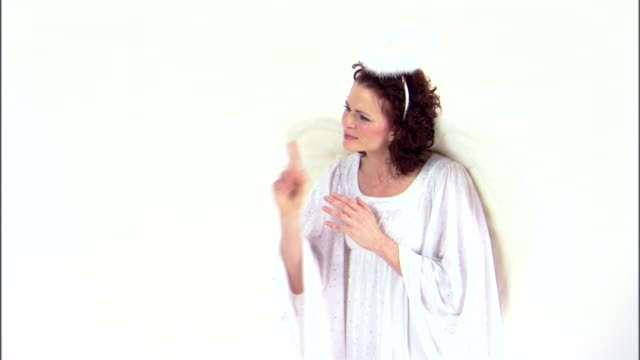 angel listening to prayer - angel stock videos & royalty-free footage