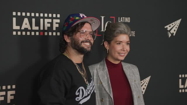 """angel manuel soto and kate chamuris at the laliff closing night """"women is losers,"""" red carpet capture produced by cindy maram, dig in magazine/in... - tcl chinese theatre stock videos & royalty-free footage"""