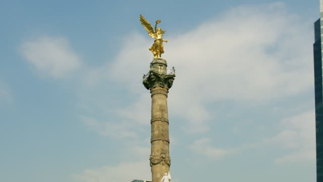 cu, zo, ms, angel of independence monument, mexico city, mexico  - american revolution stock videos & royalty-free footage