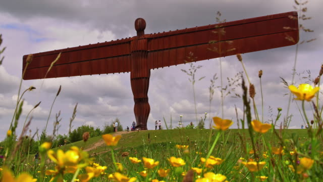 angel of the north - angel of the north stock videos and b-roll footage