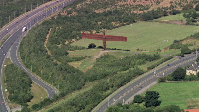 angel of the north - gateshead stock videos and b-roll footage