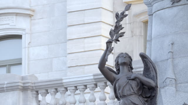 angel on statue of saint francois de laval - history stock videos & royalty-free footage