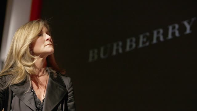Angela Ahrendts chief executive officer of Burberry Group Plc speaks at the DreamForce 2011 conference in San Francisco California US on Wednesday...