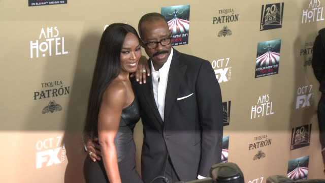 Angela Bassett and Courtney B Vance at FX's American Horror Story Hotel Los Angeles Premiere at Regal Cinemas LA Live on October 03 2015 in Los...