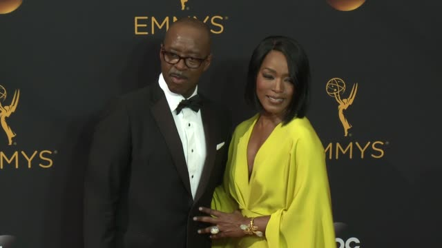 Angela Bassett and Courtney B Vance at the 68th Annual Primetime Emmy Awards Arrivals at Microsoft Theater on September 18 2016 in Los Angeles...