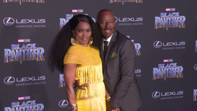 Angela Bassett and Courtney B Vance at the Marvel Studios' Black Panther World Premiere at Dolby Theatre on January 29 2018 in Hollywood California