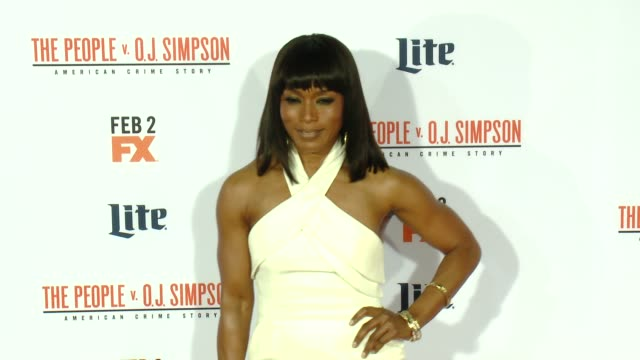 Angela Bassett at FX's The People v OJ Simpson American Crime Story Premiere at Westwood Village Theatre on January 27 2016 in Westwood California
