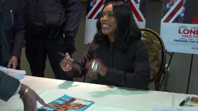 Angela Bassett at London Has Fallen Military Premiere At Naval Amphibious Base Little Creek on February 27 2016 in Norfolk Virginia