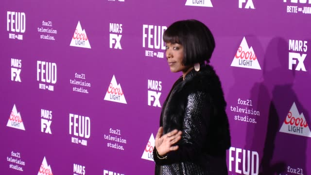 """angela bassett at premiere of fx network's """"feud: bette and joan"""" in los angeles, ca 3/1/17 - fx network stock videos & royalty-free footage"""