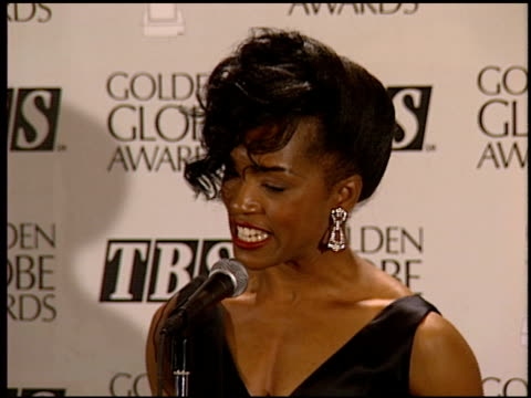 Angela Bassett at the 1994 Golden Globe Awards at the Beverly Hilton in Beverly Hills California on January 22 1994