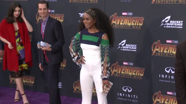 Angela Bassett at the Avengers Infinity War World Premiere on April 23 2018 in Hollywood California